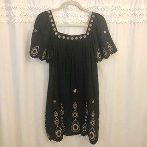 BCBG MaxAzria Black Short Sleeved Dress